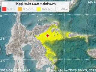 Gempa Bumi Berpotensi Tsunami  Guncang Sulawesi