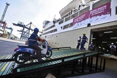 Peminat Mudik Gratis Sepeda Motor  Dengan Kapal Laut Meningkat